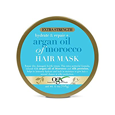 OGX Hydrate & Repair Argan Oil Of Morocco Hair Mask With Extra Strength, 6 Ounce