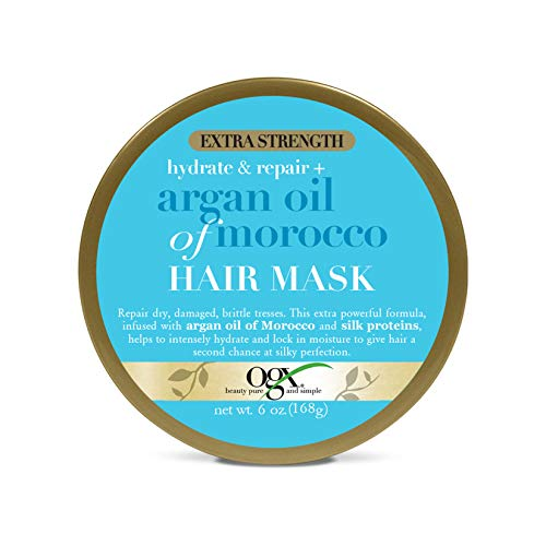 OGX Extra Strength Hydrate & Repair + Argan Oil of Morocco Hair Mask, 6 Ounce ()