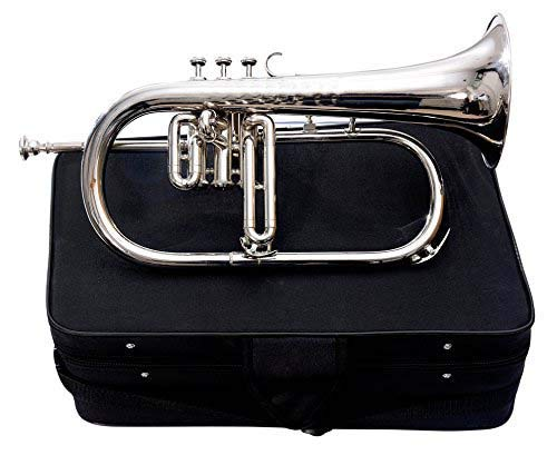 SC EXPORTS Bb Flat Silver Nickel Flugel Horn With Free Hard Case+Mouthpiece by SCEXPORTS (Image #6)
