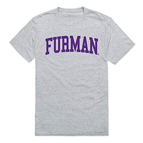 Furman Paladins NCAA Men's t Shirt Game Day Tees - Heather Grey, Large