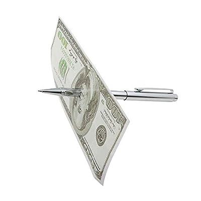 SUMAG Penetration (Pen Thru Dollar)/Deluxe Pen Through Dollar Magic Tricks Bill Magic Close Up Illusion Gimmick Props Mentalism: Toys & Games