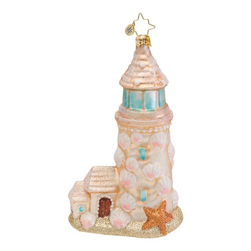RADKO Sand Castle Light House Ornament