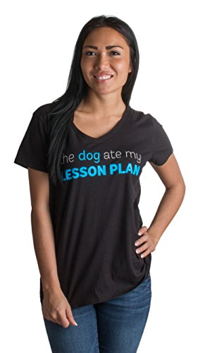 JTshirt.com-19637-The Dog Ate my Lesson Plan | Funny Teacher, Teaching Shirt (Unisex & Ladies)-B00U0MJB76-T Shirt Design