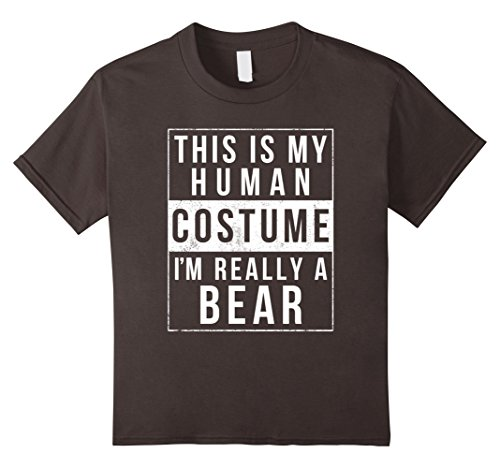 Kids Bear Halloween Costume Shirt Funny Easy for Kids Men Women 12 (Easy Teacher Costumes For Halloween)