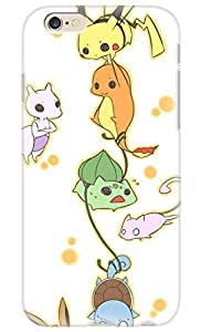 FUNKthing Pokemon Popular Cute Pikachu Charmander Bulbasaur Mew Eevee PC Hard new cases for iphone 6