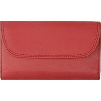 Rolfs Leather Classic Deluxe Zip Back Checkbook Wallet
