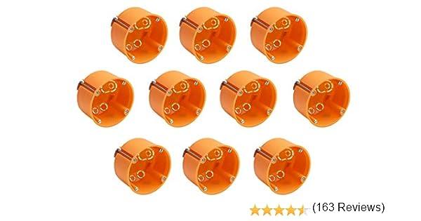 Meister - Caja de Montaje para Pared (10 Unidades), Color Naranja ...