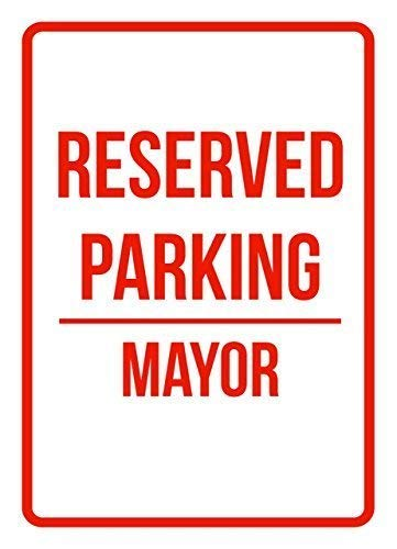 Traffic Sign Posters - BIN SHANG Metal Room Sign Reserved Parking Mayor Business Safety Traffic Signs Black Aluminum Wall Poster Yard Fence Decor Sign Gift