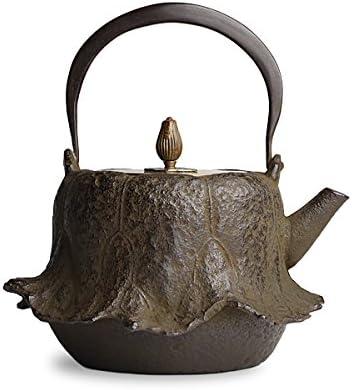 鉄瓶 蝋型 蓮 龍泉 作