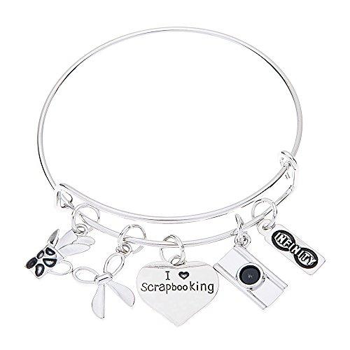 Scrapbook Charm Bracelet, Scrapbook Jewelry, Scrapbook Gifts for Women