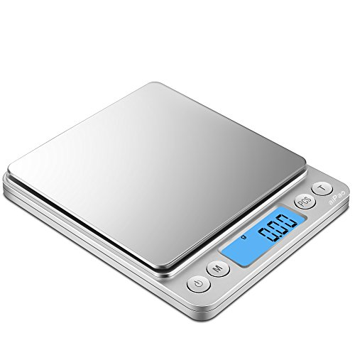 aiPao 3000g/0.1g Digital Kitchen Scales, High-precision Pocket Food Scale, Multifunctional Pro Scale with Back-Lit LCD Display, Lab Weight, 0.01oz