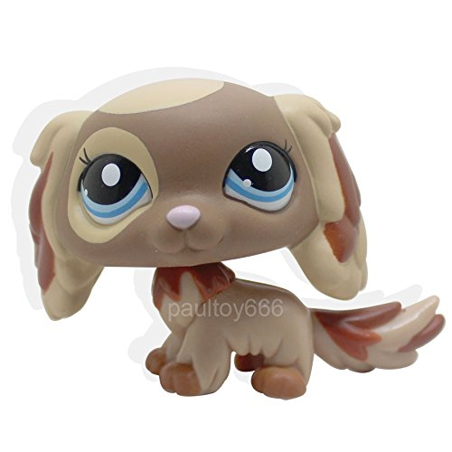 [tongrou 2570 RARE Littlest Pet Shop King Charles Cavalier Dog Puppy Brown Blue Eyes LPS] (Dalmation Dog Costumes Ideas)
