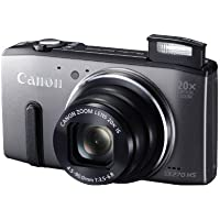 Canon Powershot SX270 HS 12 MP Digital Camera with 20x Optical Zoom and 3-Inch LCD Display, Gray (8228B005) - International Version (No Warranty)