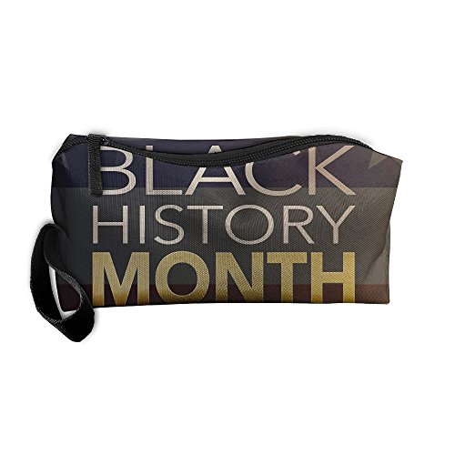 Portable Pencil Bag Purse Pouch Black History Month Stationery Storage Organizer Cosmetic Holder ()