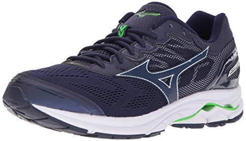 Mizuno Men's Wave Rider 21 Running Shoe, Eclipse, 9.5 D US