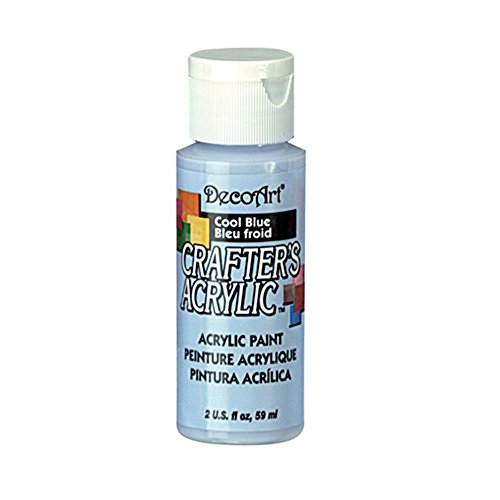 Decoart Crafter's Acrylic Paint, 2-Ounce, Cool Blue