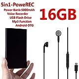 Digital Voice Recorder VOICE ACTIVATION Mini Voice Recorder Power Bank 5000mAh USB Flash