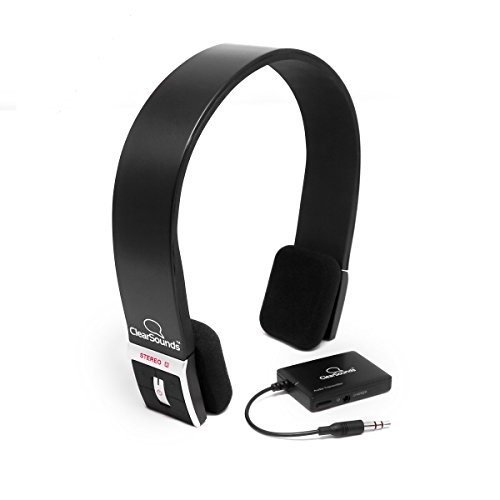 ClearSounds Bluetooth TV and Audio Listening System - Includes Wireless Bluetooth TV Headphone Headset with Transmitter Connection System