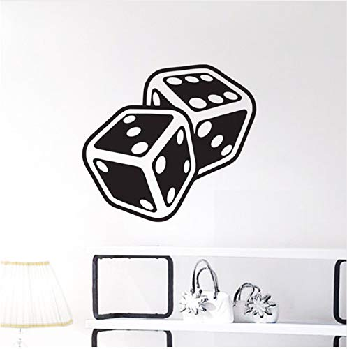 (LSFHB Dices Wall Stickers Creative Gambling Casino Game Pattern Wall Decals Design)