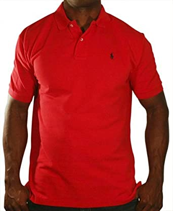 e0c53bed Polo Ralph Lauren Men Classic Fit Pony Logo T-shirt (XX-Large, Red ...