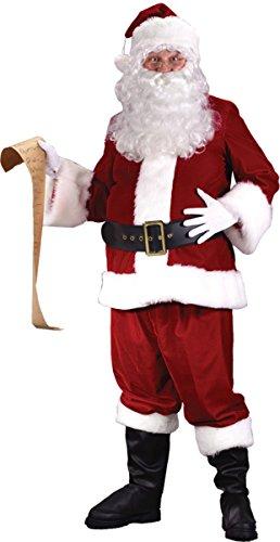 Fun World Costumes Men's Plus-Size Ultra Velvet Santa Suit, Red/White, XX-Large (Suit Santa Regency)