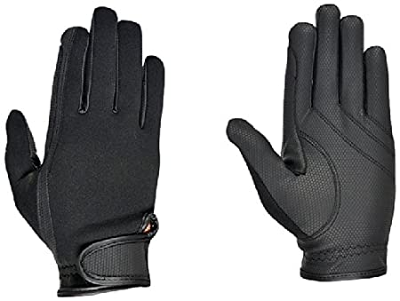 Riders Trend Erwachsene Reiter Handschuhe Reithandschuhe Neopren innen Ziegenanilinleder Black S 10034474 10034474-BLK-S