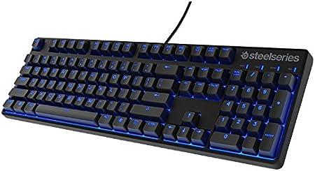 SteelSeries Apex M500, Teclado para Juego, mecánico, Cherry MX Red, con retroiluminación Azul, (PC/Mac) - Disposición Nórdico QWERTY