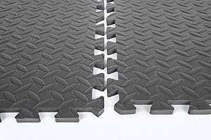 Performance Tool W88989 24'' X 24'' Protective Diamond Shape Anti-Fatigue Interlocking Floor Mat (24 Square Feet)