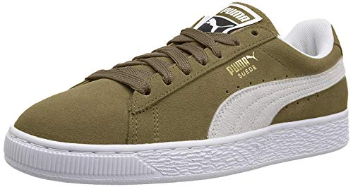 PUMA Suede Classic Sneaker, Capulet Olive White, 4 M US