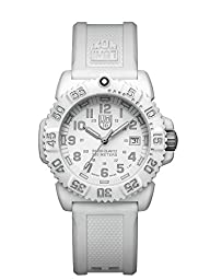 Luminox Women's A.7057.WO Colormark White Watch with Rubber Band