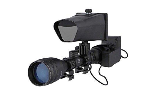 NiteSite Wolf 330 Yards Identification Range Scope Mounted Night Vision System for Zero Light Hunting (Black, Full Kit) ()