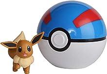 BANDAI – Pokémon – Poké Ball y su Figura 5 cm Evoli – 81233