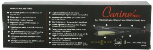 Gold N Hot Carino Professional Ceramic Slim Straightening Iron, 1-1 2 Inch