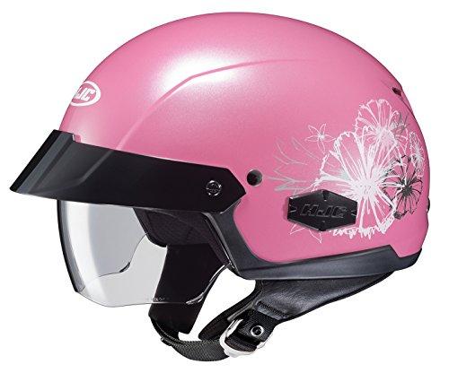 HJC Helmets MC-8 Unisex-Adult Half-Size IS-Cruiser Blush Helmet (Pink, Medium)