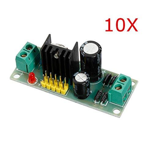 10Pcs L7805 LM7805 Three Terminal Voltage Regulator Module For - Arduino Compatible SCM & DIY Kits Module Board - 10 x L7805CV TO220 L7805 TO-220 7805 LM7805 MC7805 Original IC