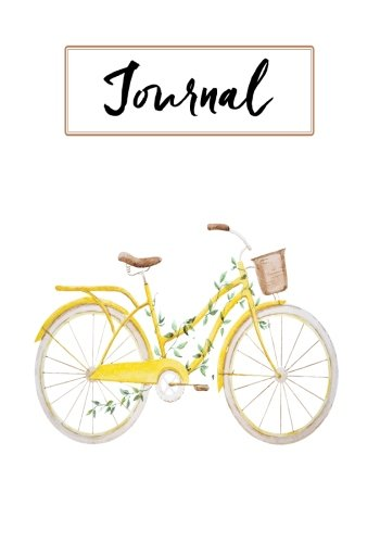 Bicycle Journal - Journal:: Yellow Vintage Bicycle: Notebook, Journal, Diary: 7 x 10 inches,120 pages (Always & Forever Journals)