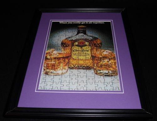 1984-crown-royal-whisky-framed-11x14-original-vintage-advertisement