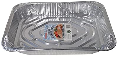 "Durable Packaging Rectangular Aluminum Roasting Pan, X-Large, 16-5/8"" x 11-7/8"" x 2-1/2"" (Pack of 12)"