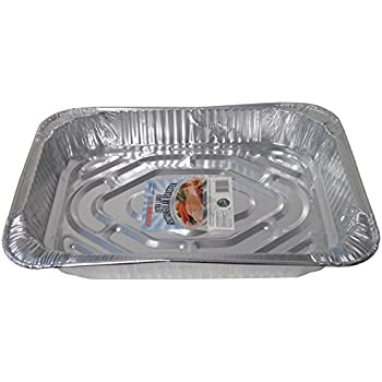 Durable Packaging Rectangular Aluminum Roasting Pan, X-Large, 16-5/8