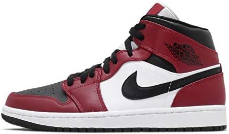 [ナイキ] エアジョーダン 1 ミッド メンズ バスケットボール シューズ Air Jordan 1 Mid Chicago Black Toe 554724-069 [並行輸入品]