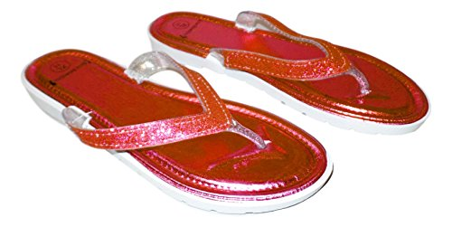 Glitter Förskönat Strap Sandal Röd