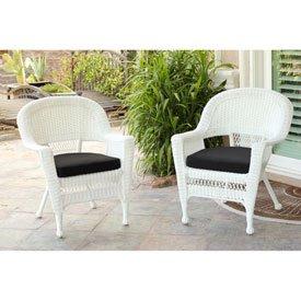 black resin wicker chair - 9