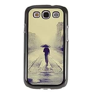 ZXM-Solo en Patrón lluvia Espejo Liso nuevo caso duro con HD de pantalla de Cine 3 piezas para Samsung Galaxy S3 I9300