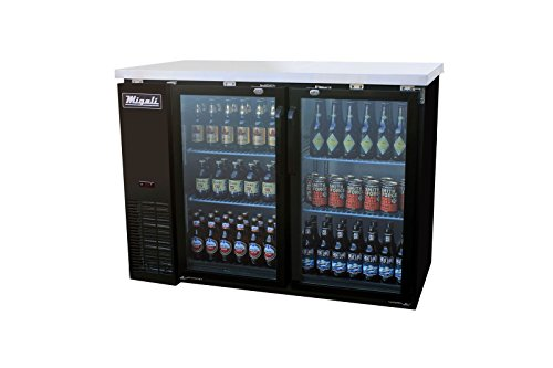 "Migali C-BB48G-HC Competitor Series Refrigerated Back Bar Cabinet, 48.75"" W, 11.8 cu. ft. Capacity"