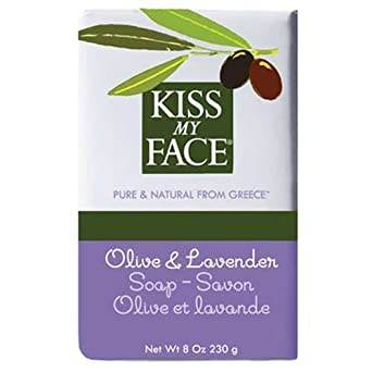 Kiss My Face Olive Oil Lavender Bar Soap 8 oz Pack of 6