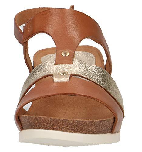 confortevole piatta Gold con scarpe Con 22 Cognac sandali Di 28207 Sandali Zeppa piattaforma lt Estate Donna platform Zeppa Caprice 390 H6P0wZIq