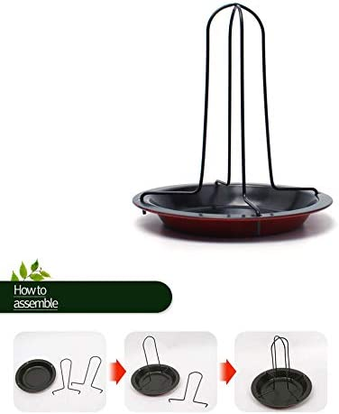 Hooshion Compact Non-Stick Roast Chicken Rack Chicken Roaster Rack Beer Can Vertical Roaster Chicken Holder with Drip Pan for Oven