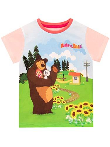 Masha and the Bear Girls T-Shirt Size 2T Multicolored (Masha And The Bear English Full Episodes)