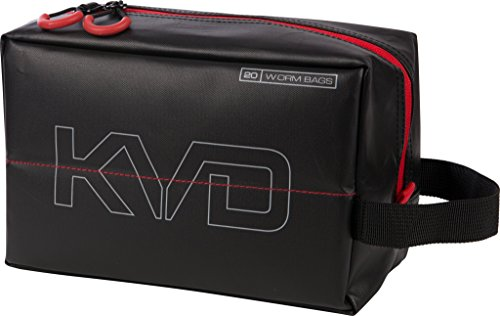 (Plano PLAB11700 KVD Worm Speedbag, Black/Grey/Red, Small (holds 20 worm bag))