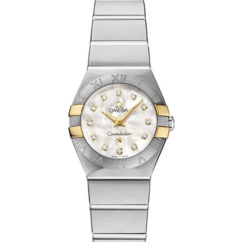 Omega-Constellation-Diamond-Mother-of-Pearl-Yellow-Gold-and-Steel-Ladies-Watch-12320246055006